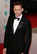 Feb 8, 2015 - EE British Academy Film Awards 2015 - Red Carpet Arrivals at Royal Opera House<br /> <br /> Pictured: Tom Hiddleston<br /> ©Exclusivepix Media
