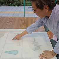 September 29,2016, Tokyo Japan oceanographic data center, a employee of JODC show  a map of Takeshima island  called Dokdo in Korean.After WWII and San Fransisco treaty , Takeshima island was revendicated by both countries, Korean install  a military facility, but Japan coast guard, patrolled near the border  to collect data to prove that strategic island is a part of Japan territory.Even Japan appeal to United  nation, tN, no clear answer came from . Pierre Boutier