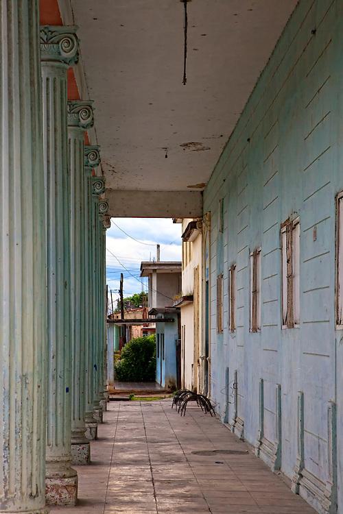 Colonnade in Guayos, Sancti Spiritus, Cuba.