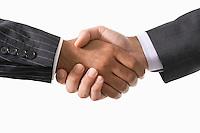 Businessmen Shaking Hands close-up on hands