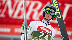 03.01.2015, Bergisel Schanze, Innsbruck, AUT, FIS Ski Sprung Weltcup, 63. Vierschanzentournee, Innsbruck, Qalifikations-Sprung, im Bild Peter Prevc (SLO) // Peter Prevc of Slovenia reacts after his qualification jump for the 63rd Four Hills Tournament of FIS Ski Jumping World Cup at the Bergisel Schanze in Innsbruck, Austria on 2015/01/03. EXPA Pictures © 2015, PhotoCredit: EXPA/ JFK