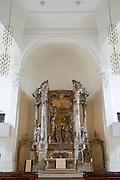 Dresden Neustadt, DreiKoenigskirche,  durch den Krieg zerstoerter Barockaltar, Dresden, Sachsen, Deutschland.|.Dresden, Germany,  Dresden Neustadt, DreiKoenigskirche, altar destroyed by war