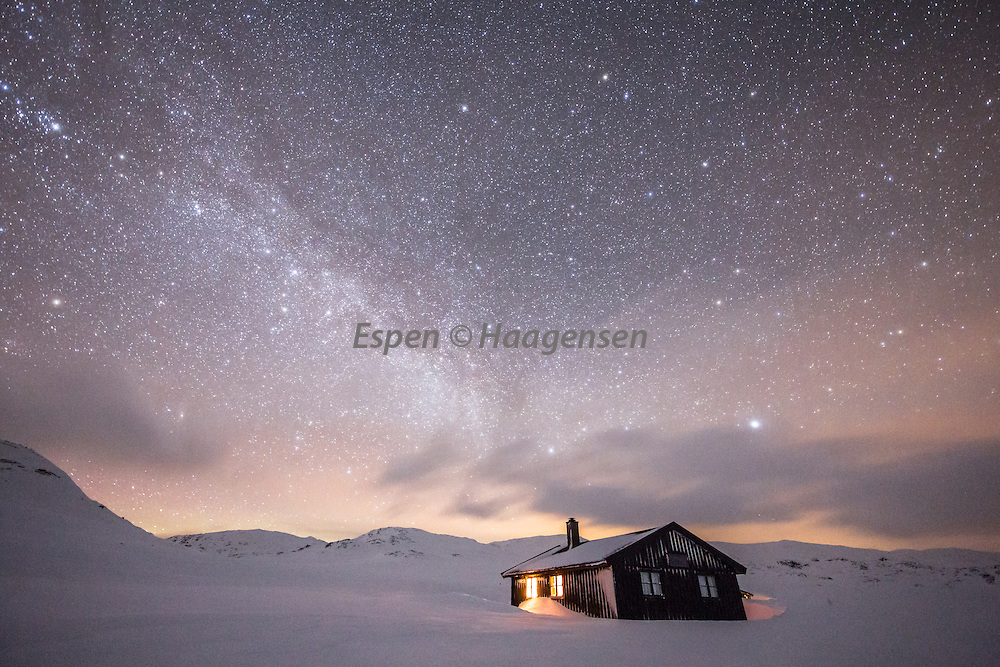 Milkyway into the roof of the Grindaflet hut