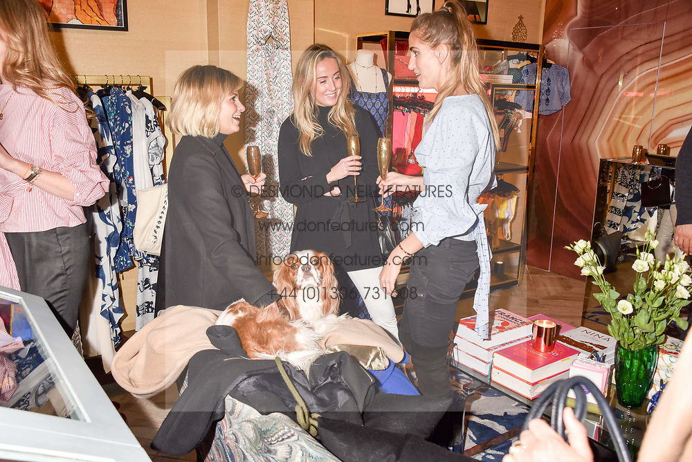 Left to right, Chantal Piper, Jemima Cadbury and Jessica Bradley at the Seren London Launch Party held at Baar And Bass, 336 Kings Road, London England. 26 April 2017.