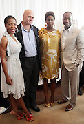 l to r: Andrea Kelly, J.P. Oliver, Tangie Murray and Jeff Friday at The ABFF Luncheon Hosted by HSBC and Rush Philanthropic Arts held at The Delano in Miami Beach on June 27, 2009..The American Black Film Festival is an industry retreat and competitve marketplace for films and by and about people of color.