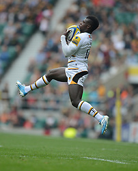 Wasps Winger Christian Wade- Photo mandatory by-line: Alex James/JMP - 07966 386802 - 06/09/2014 - SPORT - RUGBY UNION - London, England - Twickenham Stadium - Saracens v Wasps - Aviva Premiership London Double Header.