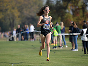 Nov 9, 2018; Sacramento, CA, USA; Fiona O'Keeffe (480) of Stanford places fifth in the women's race in 19:27 during the NCAA West Regional at Haggin Oaks Golf Course.