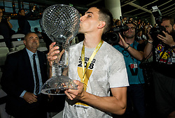 Branko Ilic of NK Olimpija celebrates with a trophy after winning during football match between NK Aluminij and NK Olimpija Ljubljana in the Final of Slovenian Football Cup 2017/18, on May 30, 2018 in SRC Stozice, Ljubljana, Slovenia. Photo by Vid Ponikvar / Sportida