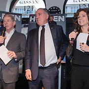 NLD/Amsterdam/20150202 - Presentatie sportblad Helden 25, Frits Barend, benno Leeser en Barbara Barend