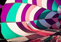 Shadows of spectators.  Hot air Balloon Fiesta, October, 2010. Albuquerque, New Mexico, USA.