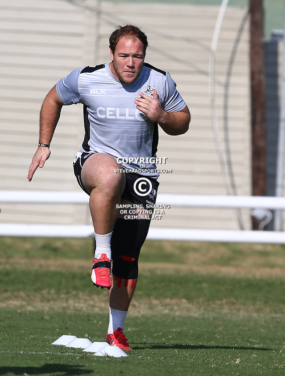 DURBAN, SOUTH AFRICA Thursday 2nd July 2015 - Kyle Cooper during the Cell C Sharks training session at Growthpoint Kings Park in Durban, South Africa. (Photo by Steve Haag)