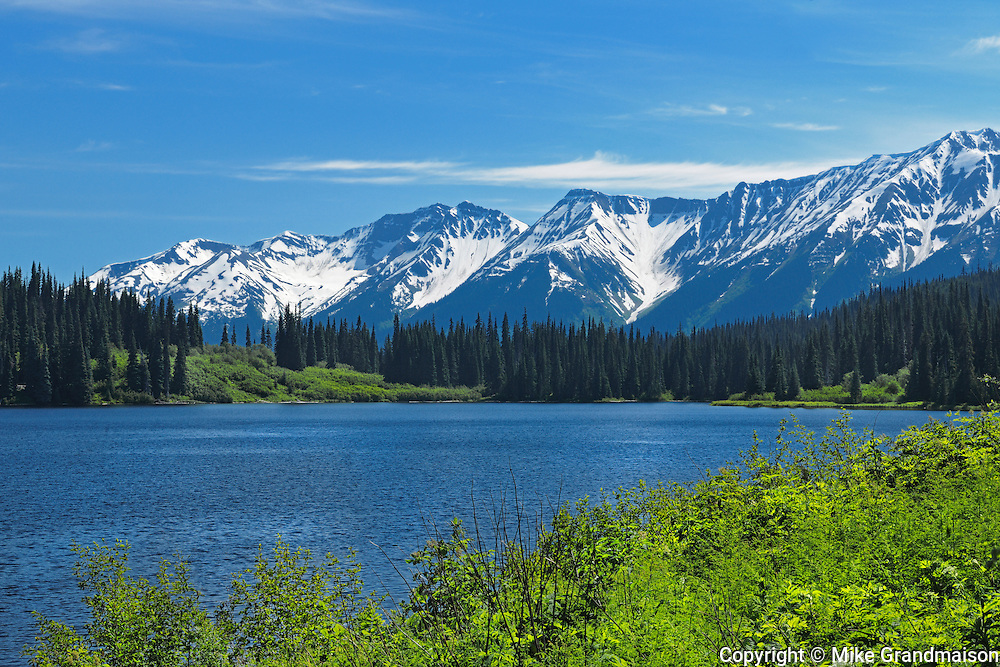 Mehan Lake and the Coast Mountains on the Stewart-Cassiar Highway<br /> <br /> Bell ll<br /> British Columbia<br /> Canada