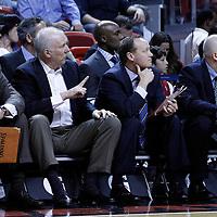 17 January 2012: San Antonio Spurs head coach Gregg Popovich is seen during the Miami Heat 120-98 victory over the San Antonio Spurs at the AmericanAirlines Arena, Miami, Florida, USA.