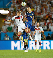 Germany's Toni Kroos and Argentina's Javier Mascherano during the 2014 FIFA World Cup Final match at Maracana Stadium, Rio de Janeiro<br /> Picture by Andrew Tobin/Focus Images Ltd +44 7710 761829<br /> 13/07/2014