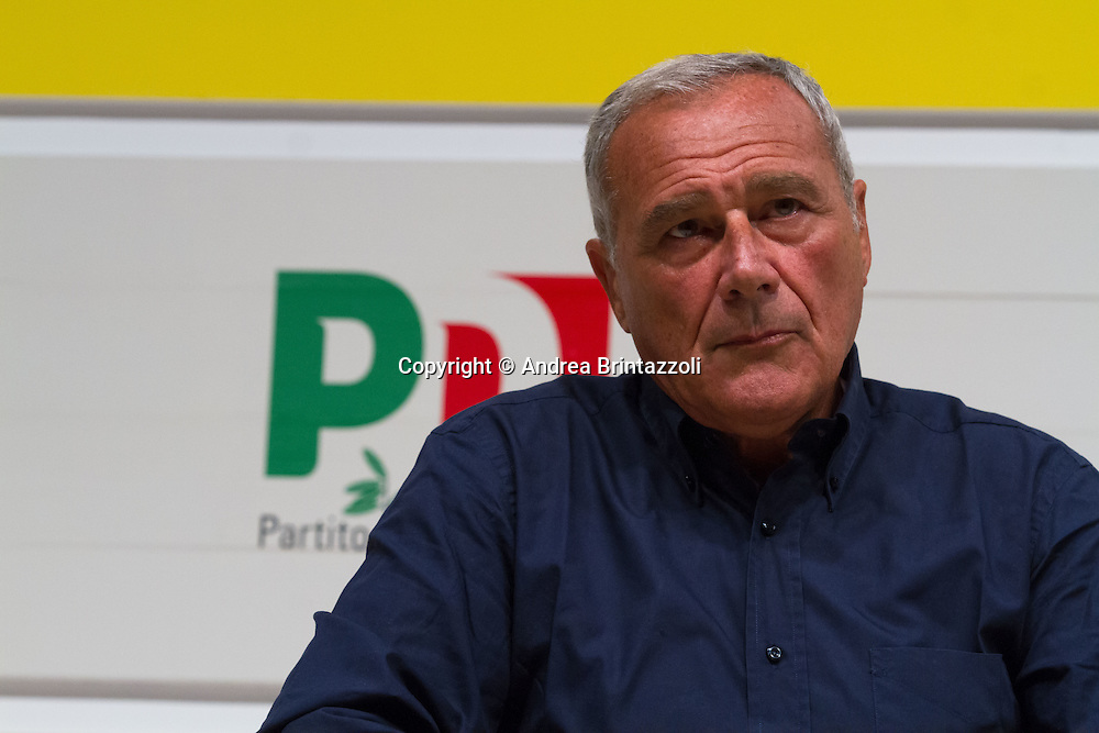 Bologna 04 settembre 2014 - Festa De L'Unità - Dibattito: Cittadini e Istituzioni protagonisti del cambiamento. Nella foto Pietro Grasso