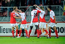 29-08-2009 VOETBAL: FC UTRECHT - SPARTA: UTRECHT<br /> Utrecht wint met 2-0 van Sparta / Dries Mertens en Jacob Lensky die de 1-0 scoort<br /> ©2009-WWW.FOTOHOOGENDOORN.NL