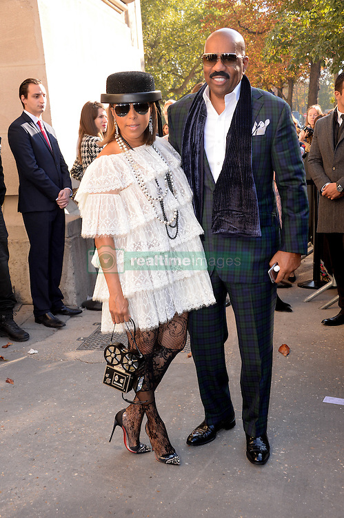 Steve and Marjorie Harvey arriving at the Chanel show as a part of Paris Fashion Week Ready to Wear Spring/Summer 2017 on October 4, 2016 in Paris, France. Photo by Julien Reynaud/APS-Medias/ABACAPRESS.COM
