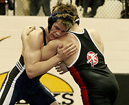 Tecumseh's Vet Smelko (back to camera) defeated Fairborn's Lee Skinner to advance in the 2007 Division I Sectionals at Centerville High School, Friday night.