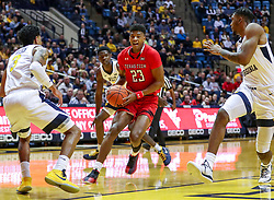 Jan 2, 2019; Morgantown, WV, USA; Texas Tech Red Raiders guard Jarrett Culver (23) drives down the lane during the first half against the West Virginia Mountaineers at WVU Coliseum. Mandatory Credit: Ben Queen-USA TODAY Sports