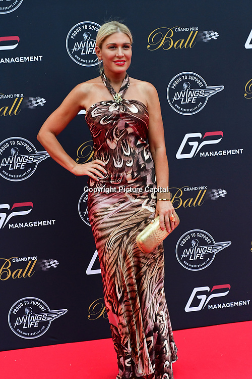Hofit Golan attends the 2018 Grand Prix Ball held at The Hurlingham Club on July 4, 2018 in London, England.