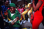 Dancers at Colville Gardens. Notting Hill Carnival. London 2009