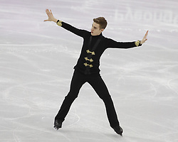 February 17, 2018 - Pyeongchang, KOREA - Matteo Rizzo of Italy competing in the men's figure skating free skate program during the Pyeongchang 2018 Olympic Winter Games at Gangneung Ice Arena. (Credit Image: © David McIntyre via ZUMA Wire)