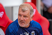 AFC Wimbledon assistant manager Glyn Hodges before the EFL Sky Bet League 1 match between Sunderland and AFC Wimbledon at the Stadium Of Light, Sunderland, England on 24 August 2019.
