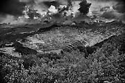 Rosia Poiane cupper pit mine in Transilvania.