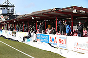 Forest Green Rovers supporters during the EFL Sky Bet League 2 match between Accrington Stanley and Forest Green Rovers at the Wham Stadium, Accrington, England on 17 March 2018. Picture by Shane Healey.