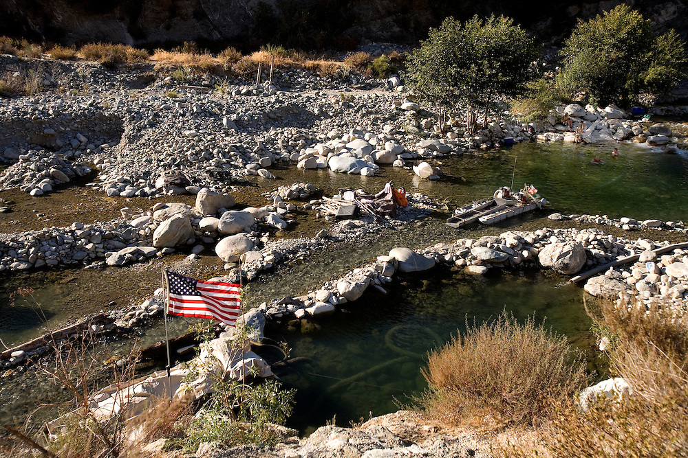 ..The East Fork River in California is a magnet for gold prospectors since the old gold rush in California in 1848. looking for gold at night August Wednesday 5.09 .