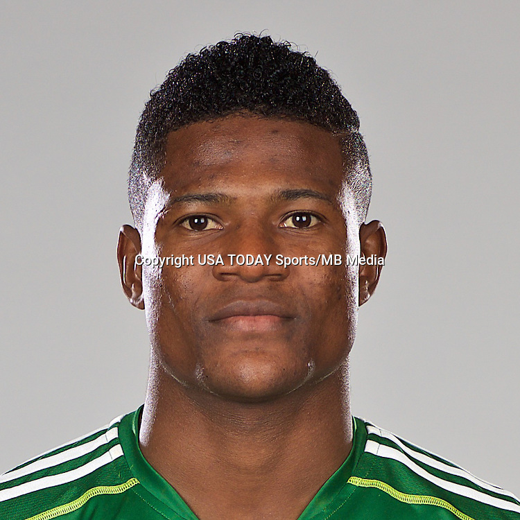 Feb 25, 2016; USA; Portland Timbers player Dairon Asprilla poses for a photo. Mandatory Credit: USA TODAY Sports