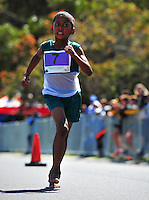 CAPE TOWN, SOUTH AFRICA - OCTOBER 10: Lenardo Williams of Heidedal Primary in the SWD during the South African Race Walking Championship at Youngsfield Military Base on October 10, 2015 in Cape Town, South Africa. (Photo by Roger Sedres/ImageSA)