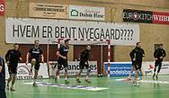 HÅNDBOLD: Nordsjællands spillere varmer op før  kampen i 888-Ligaen mellem Nordsjælland Håndbold og TTH Holstebro den 28. marts 2018 i Helsingør Hallen. Foto: Claus Birch.