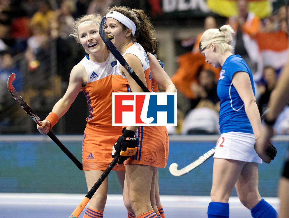 BERLIN - Indoor Hockey World Cup<br /> Quarterfinal 4: Netherlands - Czech Republic<br /> foto: Noor de Baat.<br /> WORLDSPORTPICS COPYRIGHT FRANK UIJLENBROEK