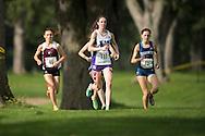 Amanda Truelove of the Western Mustangs runs at the 2014 Western International Cross country meet in London Ontario, Saturday,  September 20, 2014.<br /> Mundo Sport Images/ Geoff Robins