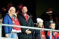 Fotball , 12. november 2014 ,<br /> Play-off , Norge - Ungarn<br /> EURO 2016 - Qualification: play-off<br /> Norway - Hungary 0-1<br /> Haakon Magnus, Mette-Marit , Ingrid Alexandra av Norge, Sverre Magnus av Norge,