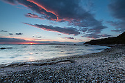 Sunset over Hobbs Beach, Tiritiri Matangi Island, New Zealand
