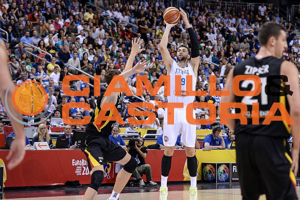 DESCRIZIONE : Berlino Berlin Eurobasket 2015 Group B Germany Germania - Italia Italy<br /> GIOCATORE : Andrea Bargnani<br /> CATEGORIA : Tiro Tre Punti Three Point<br /> SQUADRA : Italia Italy<br /> EVENTO : Eurobasket 2015 Group B<br /> GARA : Germany Italy - Germania Italia<br /> DATA : 09/09/2015<br /> SPORT : Pallacanestro<br /> AUTORE : Agenzia Ciamillo-Castoria/M.Longo
