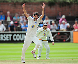 Graham Onions of Durham appeals for a wicket.  - Mandatory by-line: Alex Davidson/JMP - 05/08/2016 - CRICKET - The Cooper Associates County Ground - Taunton, United Kingdom - Somerset v Durham - County Championship - Day 2