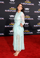 Chloe Bennet at the World premiere of 'Thor: Ragnarok' held at the El Capitan Theatre in Hollywood, USA on October 10, 2017.