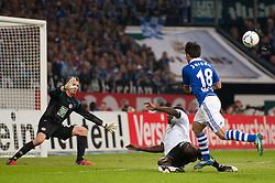 15.10.2011, Veltins Arena, Gelsenkirchen, GER, 1. FBL, FC Schalke 04 vs. 1. FC Kaiserslautern, im Bild Torschuss durch Jurado (#18 Schalke) // during FC Schalke 04 vs. 1. FC Kaiserslautern at Veltins Arena, Gelsenkirchen, GER, 2011-10-15. EXPA Pictures © 2011, PhotoCredit: EXPA/ nph/  Kurth       ****** out of GER / CRO  / BEL ******