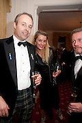 CHARLIE WILLIS; JULIETTE SMITH; CAPT QUENTIN SMITH, Charity Dinner in aid of Caring for Courage The Royal Scots Dragoon Guards Afganistan Welfare Appeal. In the presence of the Duke of Kent. The Royal Hospital, Chaelsea. London. 20 October 2011. <br /> <br />  , -DO NOT ARCHIVE-© Copyright Photograph by Dafydd Jones. 248 Clapham Rd. London SW9 0PZ. Tel 0207 820 0771. www.dafjones.com.