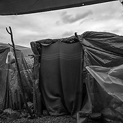 A tent in the camp of San Ferdinando, near Rosarno, Calabria. Between 800 and 1000 african farmhands are living there