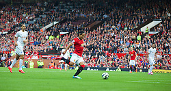 MANCHESTER, ENGLAND - Sunday, September 14, 2014: Manchester United's Radamel Falcao in action against Queens Park Rangers on his debut during the Premier League match at Old Trafford. (Pic by David Rawcliffe/Propaganda)