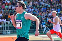 Jason Smyth, IRE competing in the T13 100m at the Berlin 2018 World Para Athletics European Championships
