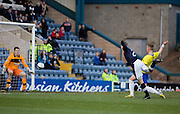 Dundee's Jim McAlister  scores the opener against his former club - Dundee v Greenock Morton, William Hill Scottish Cup 5th Round at Dens Park .. - © David Young - www.davidyoungphoto.co.uk - email: davidyoungphoto@gmail.com