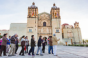 An early morning procession for peace at Santo Domingo church October 26, 2013 in Oaxaca, Mexico.
