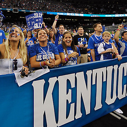 Apr 2, 2012; New Orleans, LA, USA; Kentucky Wildcats fans cheer before the finals of the 2012 NCAA men's basketball Final Four against the Kansas Jayhawks at the Mercedes-Benz Superdome. Mandatory Credit: Derick E. Hingle-US PRESSWIRE