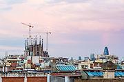 La Sagrada Familia Under Construction. Barcelona, Catalunya | Architect: Antoni Gaudí