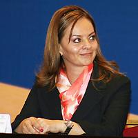 IXTAPAN DE LA SAL, México.- Nuvia Mayorga Delgado, Secretaria general de Finanzas del Estado de Hidalgo en la inauguración de la cumbre de infraestructura y finanzas Sub- Soberanas en México. Agencia MVT / José Hernández. (DIGITAL)